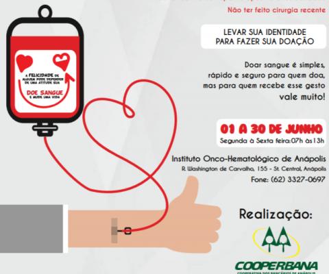 Campanha de incentivo à doação de sangue
