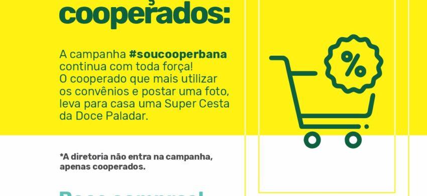 A campanha #soucooperbana continua com toda força!